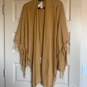Forever 21 mustard poncho